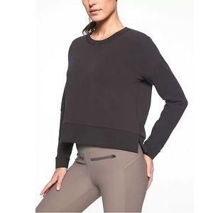 Athleta | Black Crop Long Sleeve Sweatshirt | M